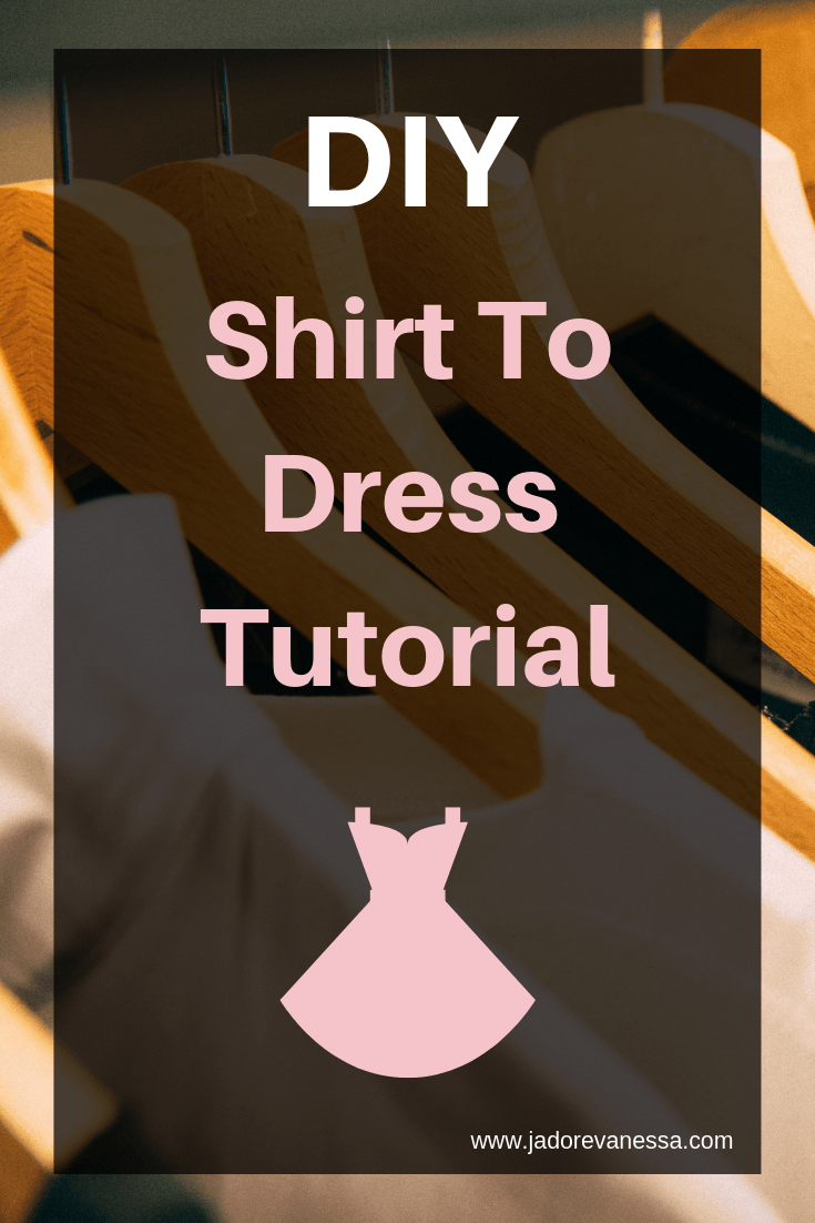 DIY Shirt To Dress Tutorial