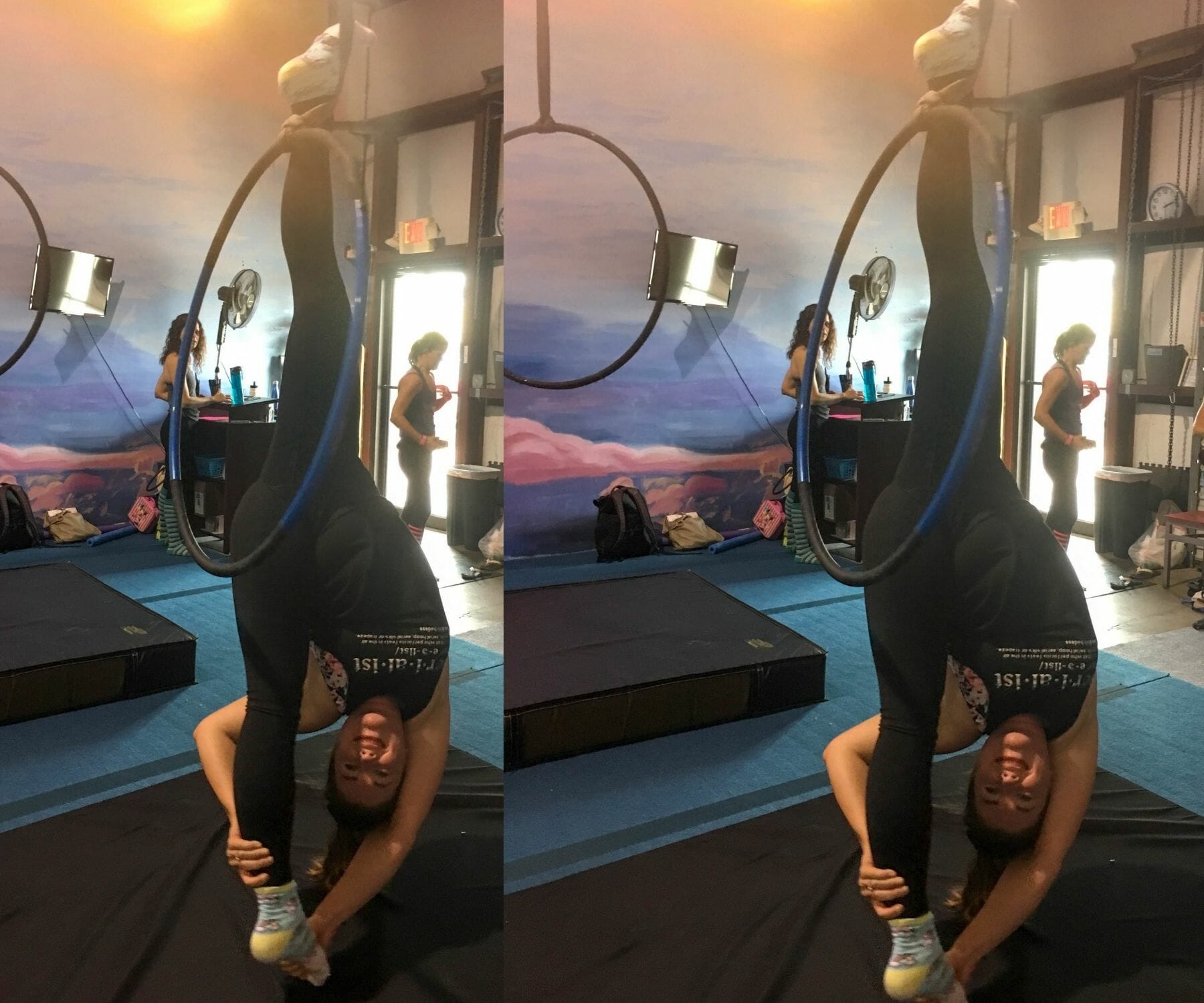 How To Do a Spanset Ankle Hang On Lyra