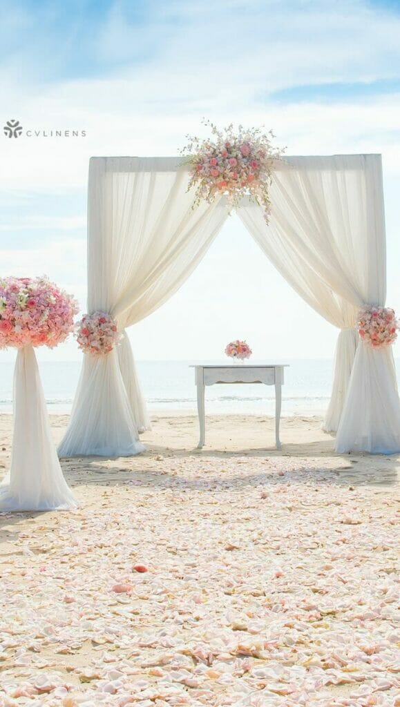 3 Of The Best Fabrics For A Romantic Wedding Arch Jv Flexibility