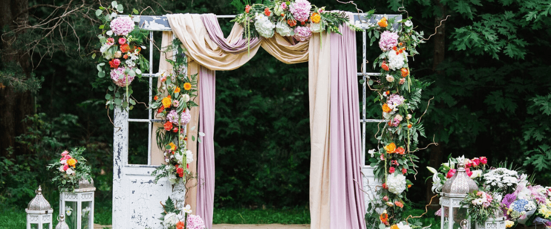 3 Of The Best Fabrics For A Romantic Wedding Arch