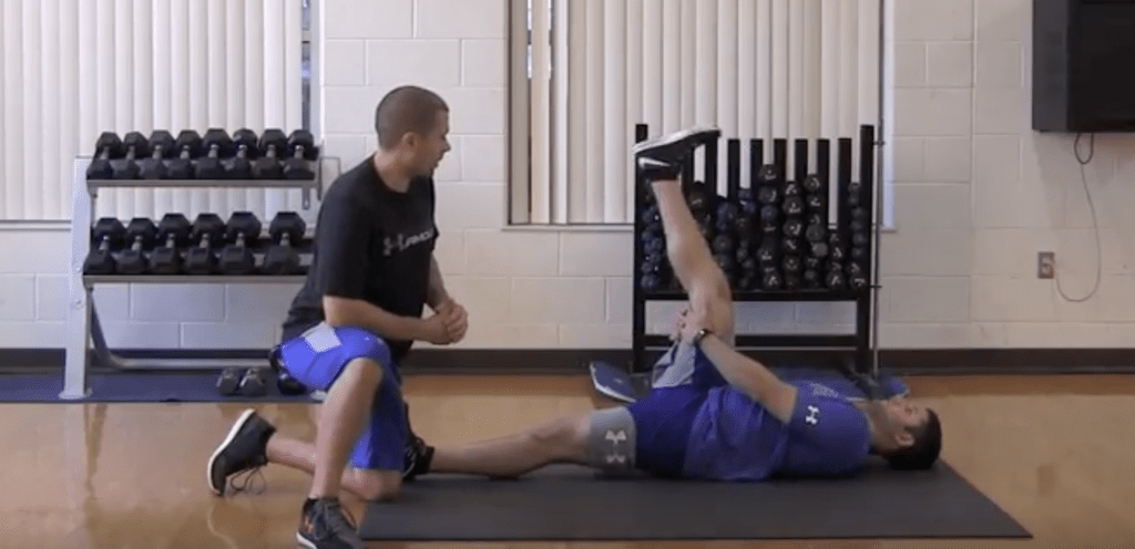 Hamstring Floss Stretch